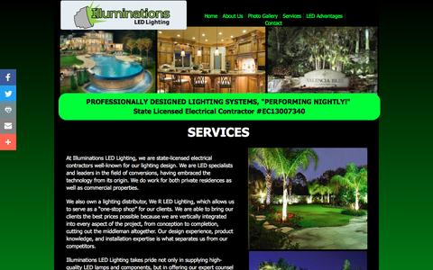 Screenshot of Services Page illuminationsled.com - Services - captured Nov. 25, 2016