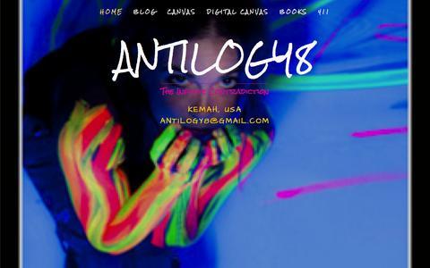 Screenshot of Home Page antilogy8.com - Antilogy8 - captured Oct. 7, 2014