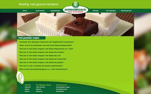 Screenshot of FAQ Page vanrijsingendiepvries.nl - Faq   Van Rijsingen Diepvries - captured Oct. 7, 2014