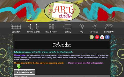 Screenshot of Signup Page partystudiocolumbus.com - Party Studio Columbus | Art & Canvas Painting Parties Events Calendar - captured Oct. 6, 2014