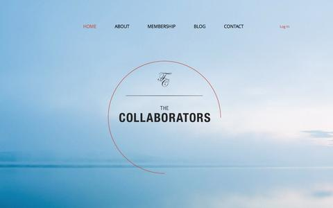 Screenshot of Home Page the-collaborators.org - The Collaborators - captured Oct. 7, 2014