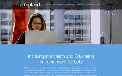 Screenshot of Home Page startupland.tv - startupland - the documentary and educational curriculum        startupland - captured Aug. 4, 2015