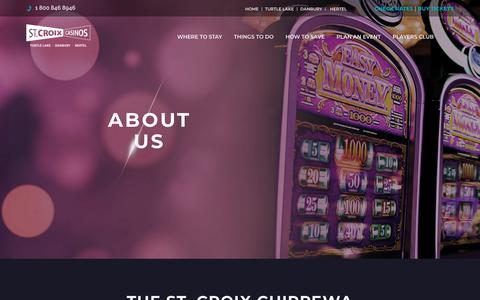 Screenshot of About Page stcroix-casinos.com - St Croix Chippewa History | About Us | St Croix Casinos - captured Oct. 19, 2018