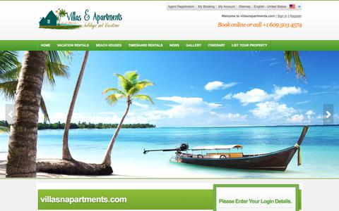 Screenshot of Login Page villasnapartments.com - Frontend-Login - captured July 9, 2018