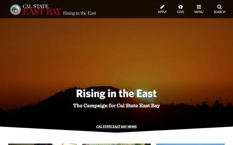 Screenshot of Home Page csueastbay.edu - California State University, East Bay - captured Oct. 12, 2016