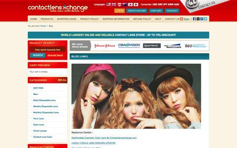 Screenshot of Blog contactlensxchange.com - Buy Discount Contact Lenses, GEO Nudy, angel, magic color lens Online - captured Oct. 2, 2014