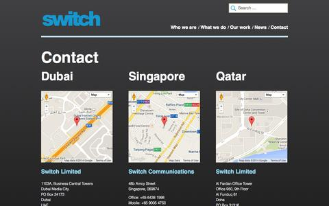 Screenshot of Contact Page switch.ae - Contact - Switch - captured Oct. 6, 2014