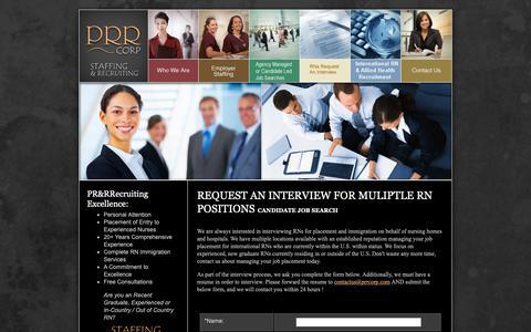 Screenshot of Services Page prrcorp.com - PRR Recruiting Resources Corp, San Antonio, TX - captured Nov. 4, 2018