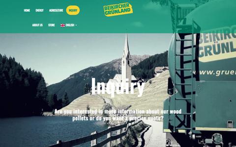 Screenshot of Contact Page gruenland.it - Inquiry - Beikircher Gruenland - captured Oct. 29, 2018