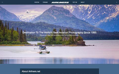 Screenshot of About Page airliners.net - About Airliners.net & Our Aviation Community | Airliners.net - captured Sept. 21, 2018