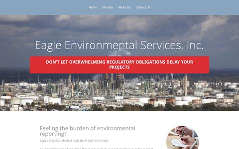 Screenshot of Home Page eaglered.com - Eagle Environmental Services, Inc. | Service Experience Quality - captured July 12, 2017