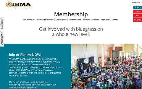 Screenshot of Signup Page ibma.org - Membership - IBMA - captured Aug. 3, 2018