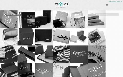 Screenshot of Case Studies Page taylorbox.com - Taylor Box Company: Custom Box and Specialty Packaging Case Studies - captured Nov. 29, 2016