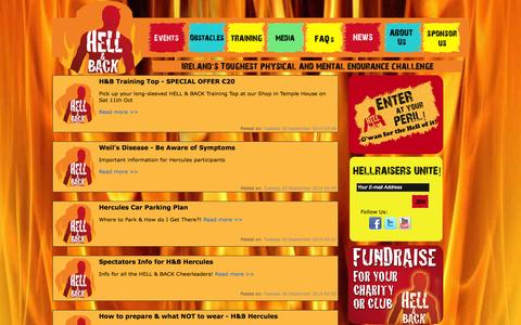 Screenshot of Press Page hellandback.ie - HELL & BACK - captured Oct. 1, 2014