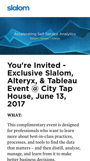 Slalom, Alteryx, & Tableau Philly Event - June 13th