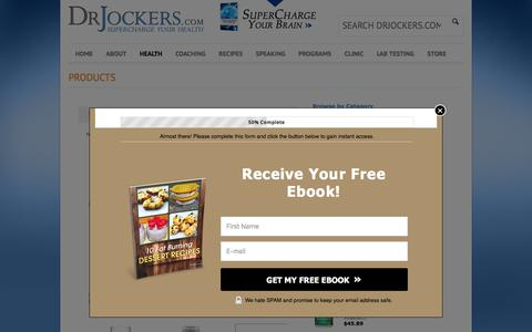 Screenshot of Products Page drjockers.com - Products - DrJockers.com - captured June 24, 2017