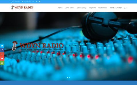 Screenshot of Home Page wdyn.com - WDYN Radio - captured Oct. 10, 2015