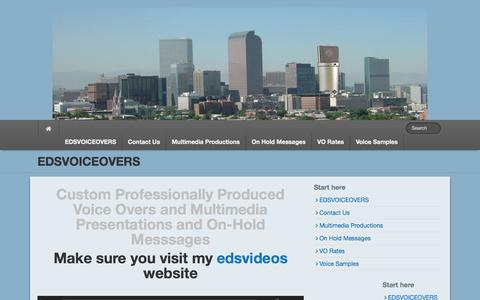 Screenshot of Home Page edsvoiceovers.com - http://edsvoiceovers.com-Voice Actor-Radio/TV-Narrations-On Hold-Web - captured Jan. 23, 2015