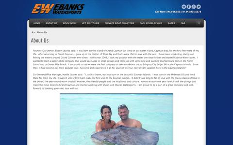 Screenshot of About Page ebankswatersports.com - About Us | Ebanks Watersports - captured Oct. 27, 2014
