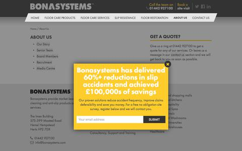 Screenshot of About Page bonasystems.com - About Us: Discover More About Bonasystems & Our Products - captured Aug. 3, 2018
