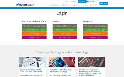 Screenshot of Login Page siteminder.com - SiteMinder Login - Login to SiteMinder's Cloud Platform - captured Sept. 5, 2016