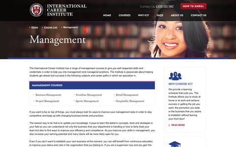 Screenshot of Team Page ici.net.au - Management – International Career Institute - captured Oct. 6, 2014