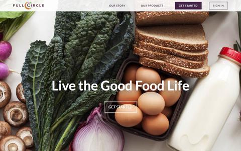 Screenshot of Home Page fullcircle.com - Organic Local Produce Delivery - Full Circle Farm - captured March 19, 2016