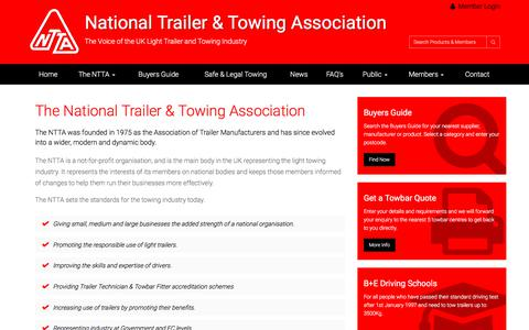 Screenshot of About Page ntta.co.uk - About the National Trailer & Towing Association Ltd - captured July 5, 2017