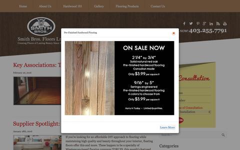 Screenshot of Blog smithbrosfloors.com - Smith Bros Floors Ltd. - captured Feb. 15, 2016