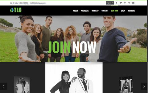 Screenshot of Signup Page totallifechanges.com - Join Now - Total Life Changes - captured Sept. 28, 2016