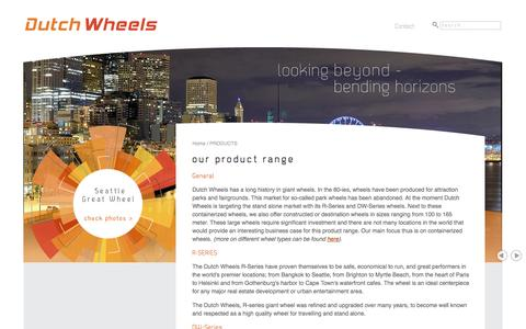 Screenshot of Products Page dutchwheels.com - PRODUCTS - captured Nov. 3, 2014