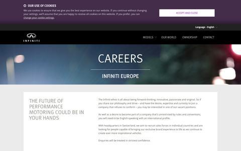Screenshot of Jobs Page infiniti.eu - Careers - job offers at Infiniti - captured Sept. 19, 2014
