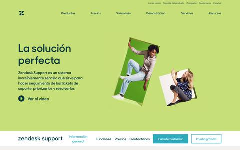 Screenshot of Support Page zendesk.com.mx - Software para servicio de atención al cliente y software para atención remota | Zendesk - captured March 23, 2019
