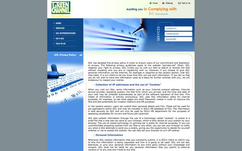 Screenshot of Privacy Page gclindia.net - Green Channel - captured Oct. 3, 2014