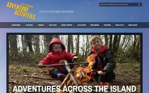 Screenshot of Home Page isleofwightadventureactivities.co.uk - Adventures across the Island | Adventure Activities Isle of Wight - captured Jan. 9, 2016