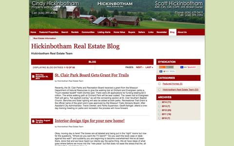 Screenshot of Blog scotthickinbotham.com - Real Estate Information - Scott Hickinbotham Real Estate - captured Oct. 2, 2014