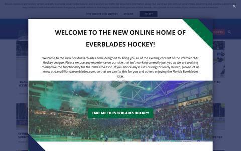 Screenshot of Press Page floridaeverblades.com - News - captured Nov. 6, 2018