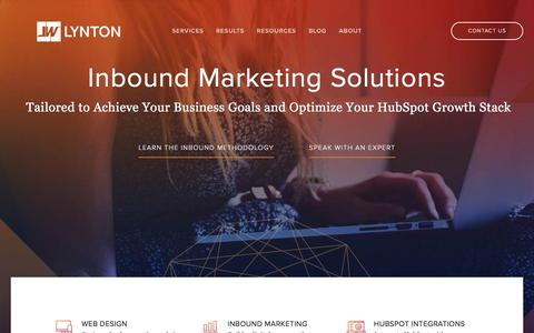 Screenshot of Home Page lyntonweb.com - LyntonWeb - Inbound Marketing Agency, HubSpot Partner - captured May 15, 2017
