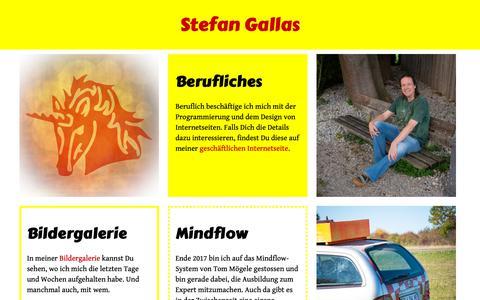 Screenshot of Home Page gallas.info - Persönliche Homepage von Stefan Gallas - captured Oct. 30, 2018