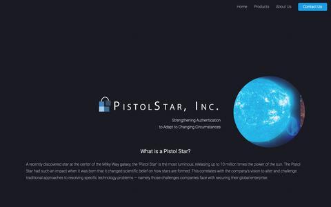 Screenshot of Home Page pistolstar.com - PistolStar Inc. - captured Sept. 28, 2018