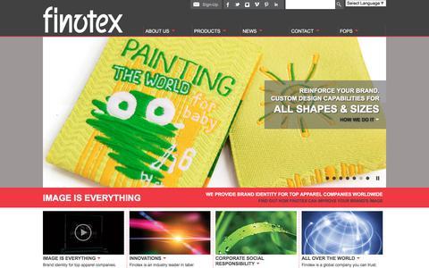 Screenshot of Home Page finotex.com - Finotex | Brand Identity Solutions - captured Aug. 11, 2018