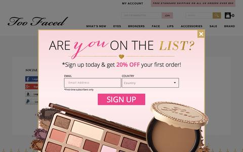 Screenshot of Login Page toofaced.com - Too Faced - captured Nov. 2, 2015