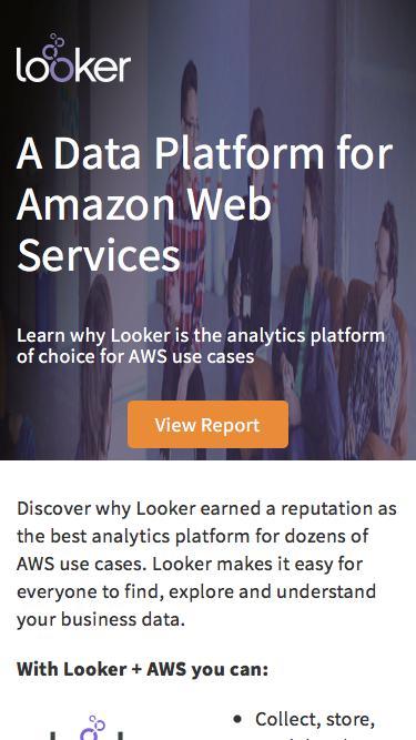 Data Analytics for AWS   Looker