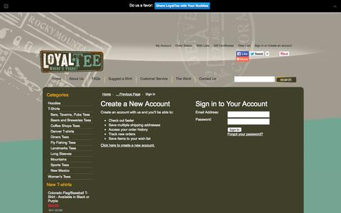 Screenshot of Login Page mybigcommerce.com - LoyalTee  - Sign in - captured Sept. 18, 2014