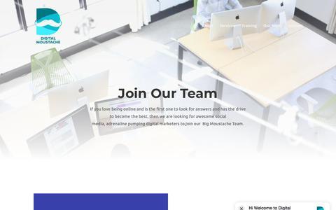 Screenshot of Jobs Page digitalmoustache.com - Careers | Digital Moustache - captured Aug. 7, 2018
