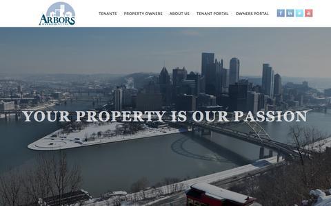 Screenshot of Home Page arbors.com - Arbors Management, Inc - captured Feb. 6, 2016