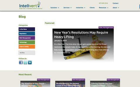 Screenshot of Blog intelivert.com - Inteliblog - captured Feb. 14, 2019