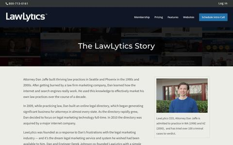 Screenshot of About Page lawlytics.com - About LawLytics - captured Nov. 8, 2018