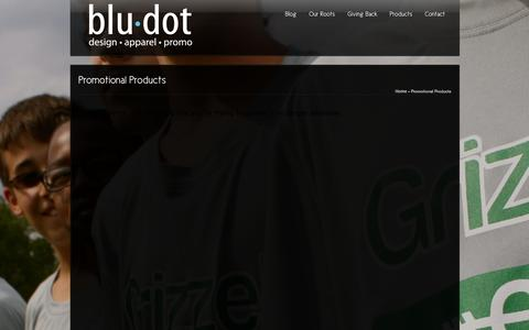 Screenshot of Products Page bludotgroup.com - Promotional Products   bludotgroup.com - captured Oct. 5, 2014