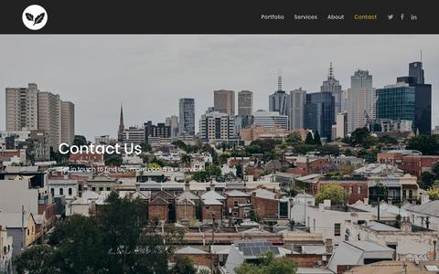 Screenshot of Contact Page silvervine.com.au - Contact   Silver Vine - captured Jan. 18, 2019